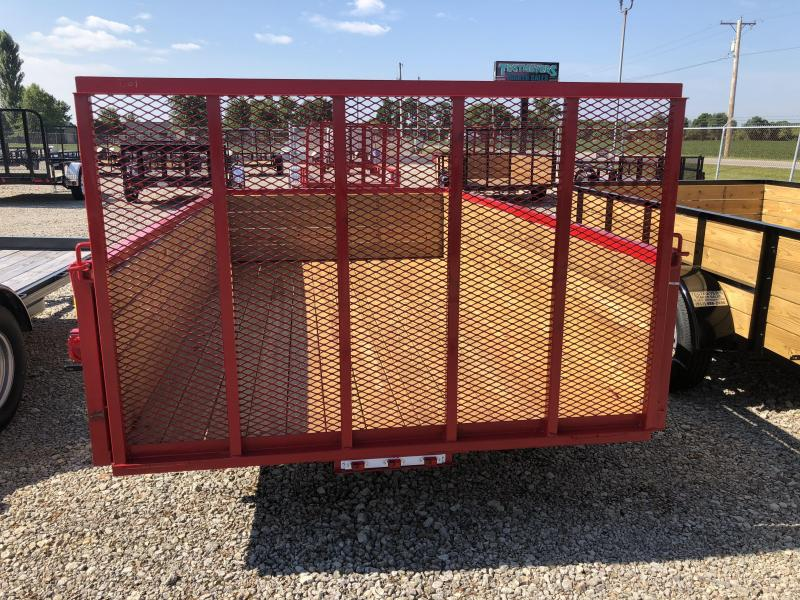 American Manufacturing 6x12 Utility Trailer w/ wood sides gate