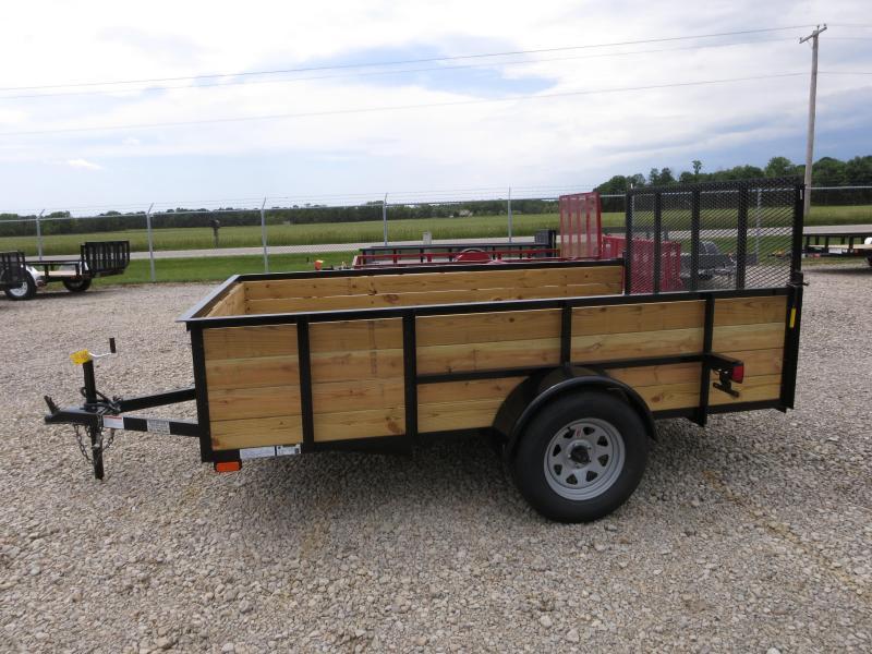 American Manufacturing 6x10 Utility Trailer w/ wood sides gate
