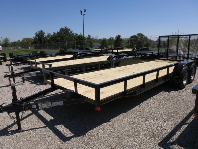 P&T Trailers 6x20 Tandem Axle Utility w/ Rear Gate