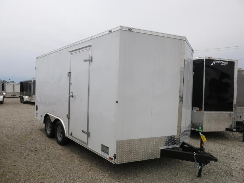 Continental Cargo 8.5X16 Enclosed Trailer W/ Double Door - Roof Vent - D rings