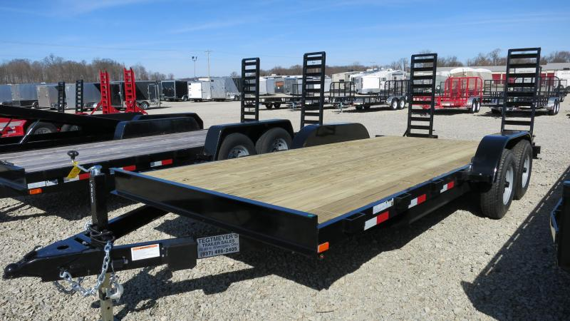 American Maunfacturing 18' Flatbed Trailer Wood Floor w/ ramps - Brake