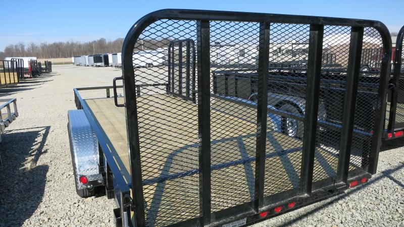 PJ Trailers 7' x 18' Utility Trailer w/ Gate - Side Gate