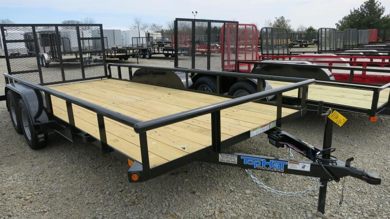 Top Hat Trailers 7x16 Utility Trailers w/ Lay in Gate