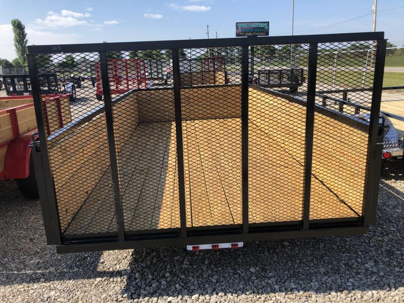 American Manufacturing 7x14 Utility Trailer w/ wood sides gate