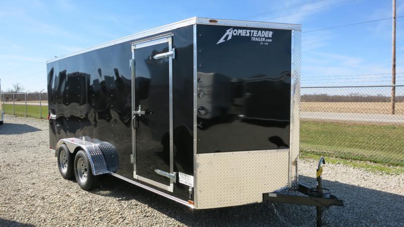 Homesteader Trailers 7x16 Enclosed Trailer with Ramp Door