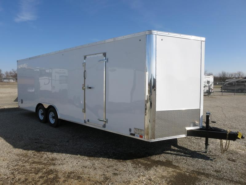 United Trailers 8.5 x 24 XLTV Enclosed Trailer w/ Ramp Door - Screwless Sides - Polished Corners - LED Lights