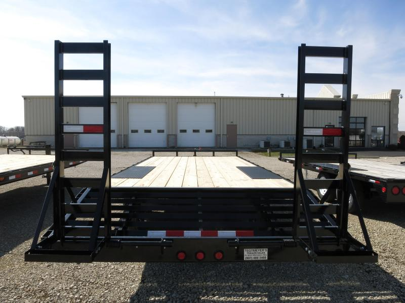 "PJ Trailers 20' Flatbed Deckover 6"" Channel Trailer"