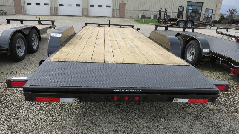 Top Hat Trailers 20' Tandem Axle Car Trailers w/ Ramps