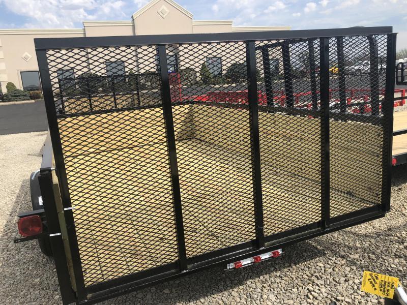 American Manufacturing 7x12 Utility Trailer w/ wood sides gate