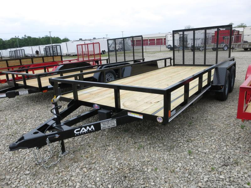 Cam Superline Trailers  7x16 Utility w/ gate