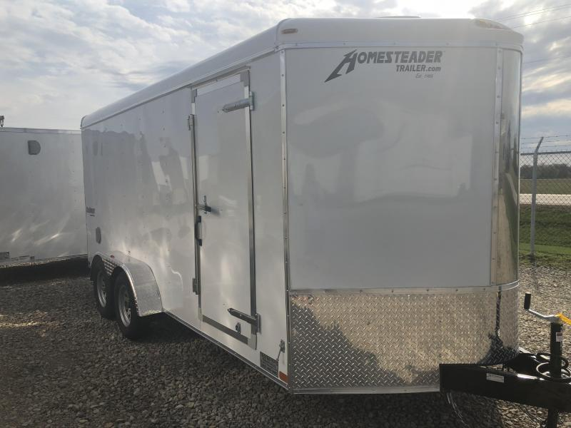 Homesteader Trailers 7x16 Enclosed Trailer w/ Ramp Door - Side Door - extra height