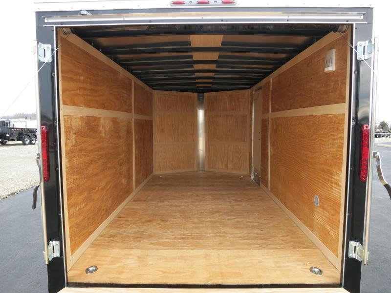 Homesteader 7x14 Enclosed Trailer w/ Ramp Door - Side Wall Vents - D Rings - Side Door