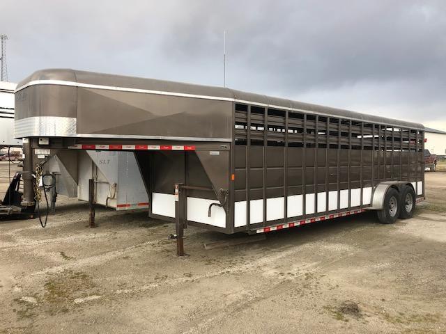 2016 Delta Manufacturing 68x24Stock Livestock Trailer