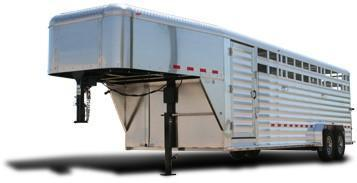 Kiefer Deluxe II Aluminum Livestock Trailer