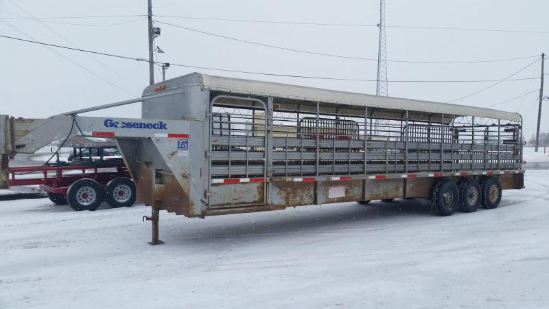Used 2005 Gooseneck 6.6 x 32 Stock Trailer