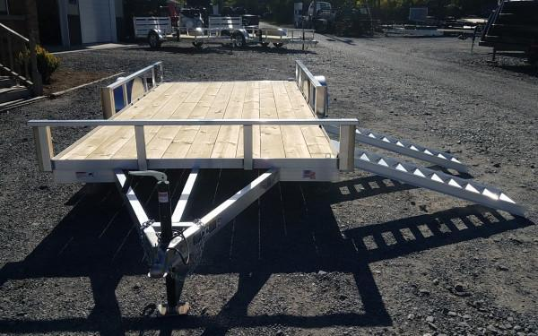 H&H 7 X 14 Aluminum Tube Top  3K ATV Trailer