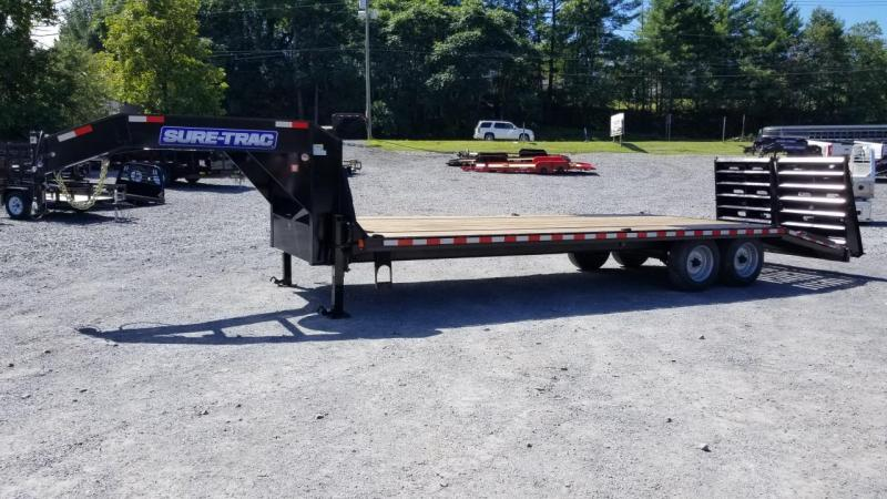 Sure-Trac 8.5X20+5 17.6K Gooseneck Deckover Equipment Trailer W/ Full Width Ramps