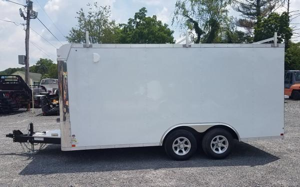 Sure Trac 8.5X16 10K Cargo W/ Contractor Pro Package White