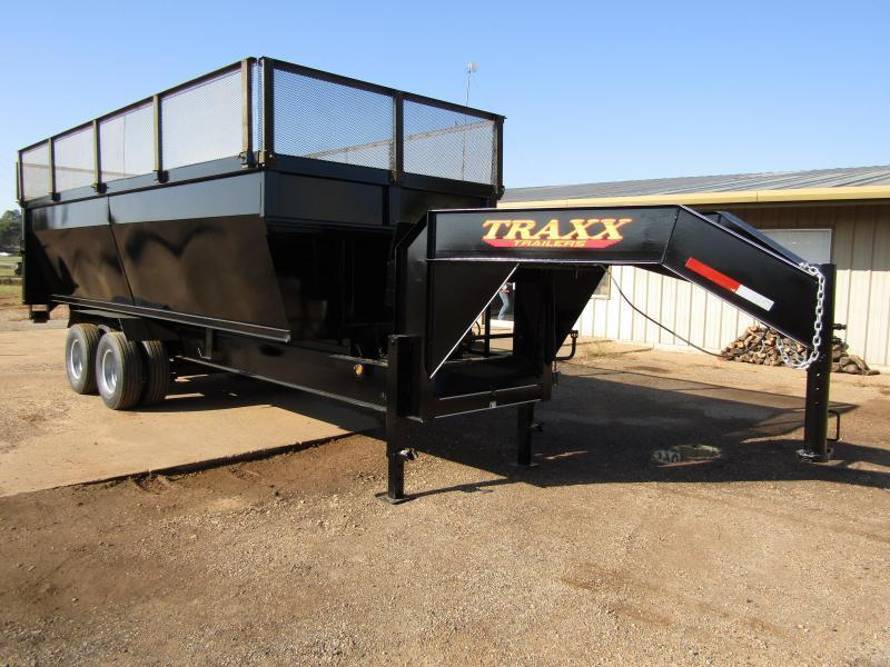 2017 Traxx Trailer with 4- 20' Roll Off Containers