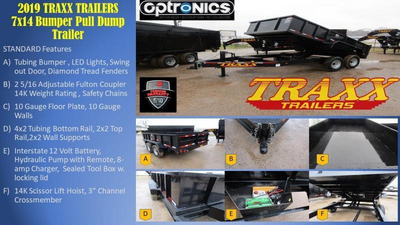 2019 Traxx Trailers 77x14 Dump Trailer Dump Trailer in Ashburn, VA