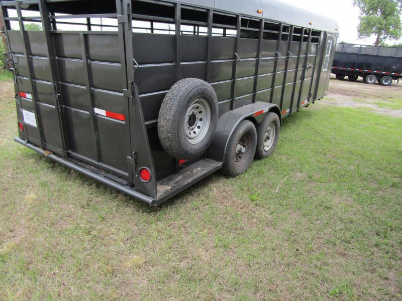 2002 Chaparral Trailers GN-ST42718 Stock Trailer