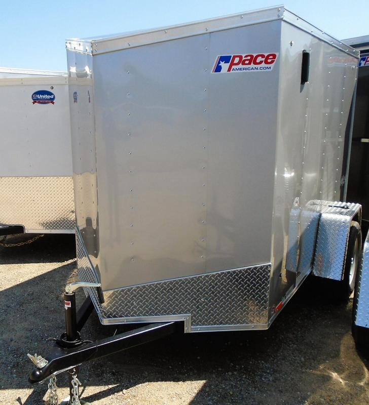 2019 Pace American OB5X8SI2 V-NOSE/BARN DOOR Enclosed Cargo Trailer