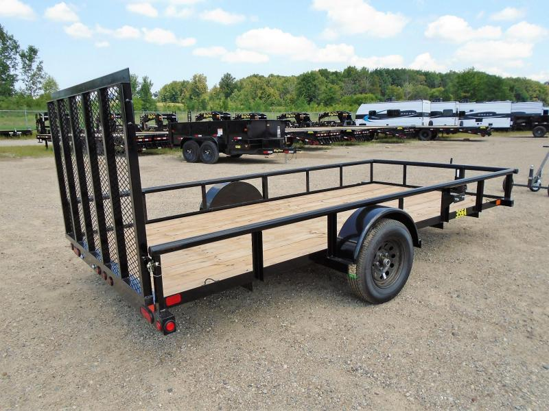 2019 Big Tex Trailers 35SA-14BK4RG 6.5X14 RAMP GATE Utility Trailer