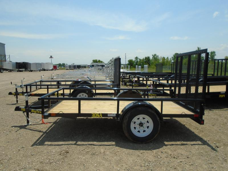 2018 Big Tex 30SA-10BK4RG 5X10 Ramp Gate Utility Trailer