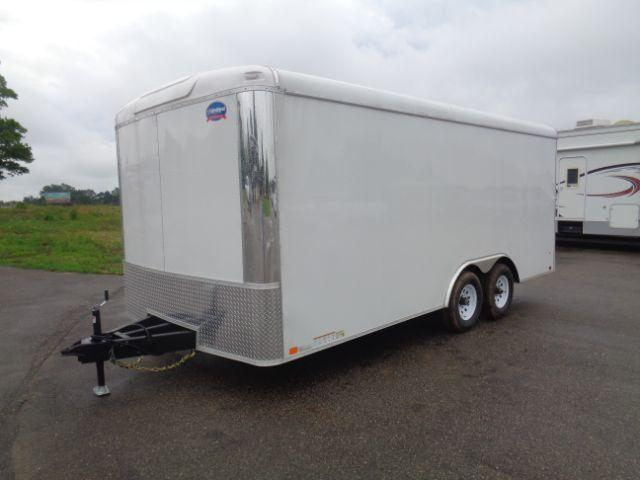 2019 United Trailers 8.5x18 10K CAR HAULER/RAMP DOOR  in New Auburn, WI