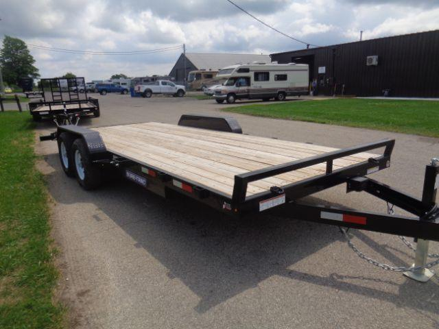 2018 Sure-Trac 7X20 10K WOOD DECK CAR HAULER  in Iron Belt, WI