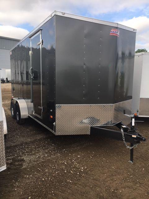 2018 American Hauler Industrie7x14 Aluminum Slant V-Nose/Extra Height/Ramp Door Cargo/Enclosed Trailer