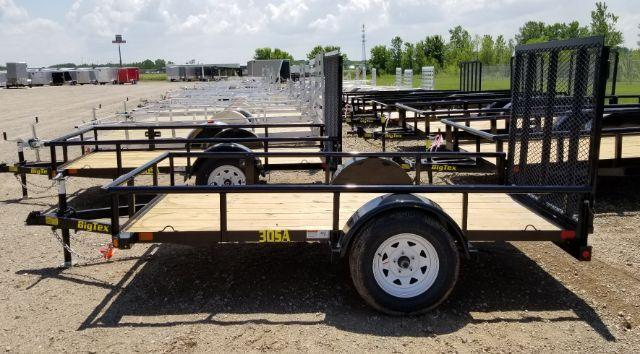 2019 Big Tex Trailers 30SA-10BK4RG 5X10 RAMP GATE Utility Trailer