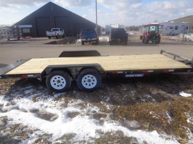 2018 Sure-Trac 7x20 7K Wood Deck Car Hauler  in Wascott, WI