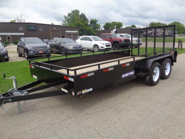 2018 Sure-Trac ST8216HSAT-B-070 7X16 7K STEEL HIGH SIDE Utility Trailer