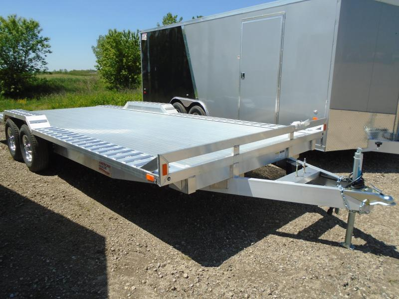 2018 American Hauler Industries8x20 Flat Deck Aluminum Wheel Over Trailer in Chaseburg, WI