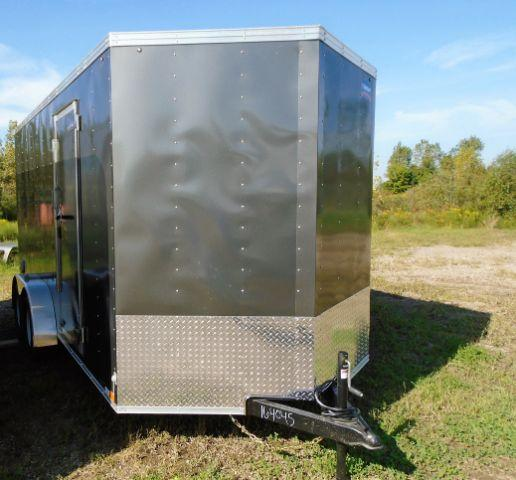 "2019 United XLV-716TA35-8.5-S V-NOSE/RAMP DOOR/SIDE DOOR/+12"" Enclosed Cargo Trailer"