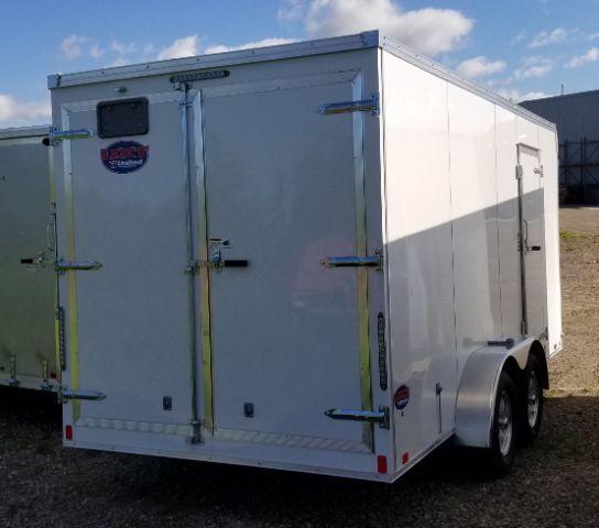 2019 United Trailers UXT-716TA35 FLAT FRONT/BARN DOOR/SIDE DOOR Enclosed Cargo Trailer