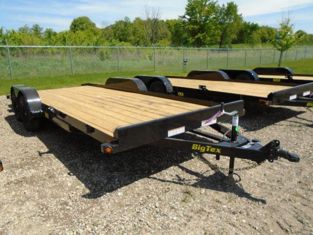 2019 Big Tex 18ft 7K Car Hauler Wood Deck  in Genoa City, WI