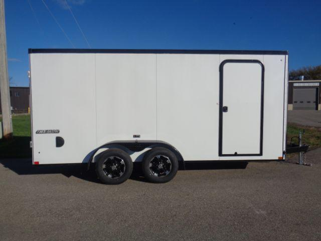"2019 Impact ITB716TA2 Slant V-Nose/Ramp Door/6'6"" Blacked Out TRIM!! Enclosed Cargo Trailer"