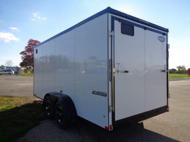 "2019 Impact ITB716TA2 Slant V-Nose/Ramp Door/6'6"" Blacked Out TRIM!! Enclosed Cargo Trailer"