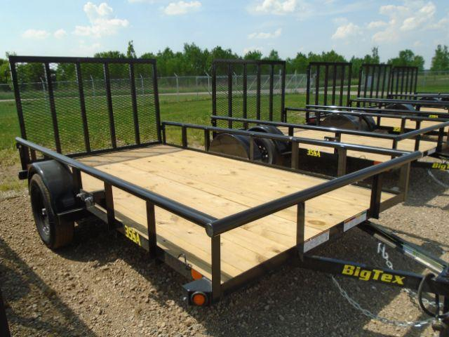 2019 Big Tex Trailers 35SA-12BK4RG 6.5X12 RAMP GATE Utility Trailer