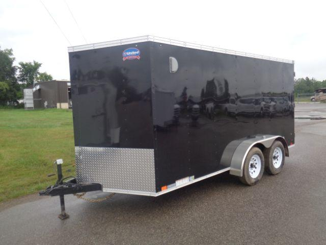 2019 United Trailers 7x14 V-NOSE/BARN DOOR Enclosed Cargo Trailer
