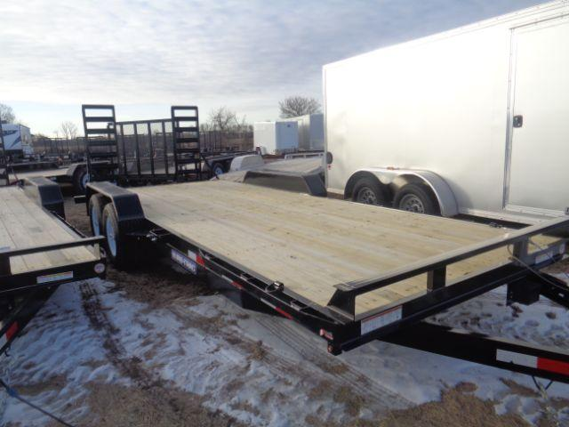 2018 Sure-Trac 7X20 Implement 10K Flatbed Trailer in Collins, WI