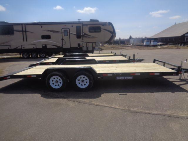 2018 Sure-Trac 7X20 Wood Deck Car Hauler 7K Tandem Axle in Evansville, WI
