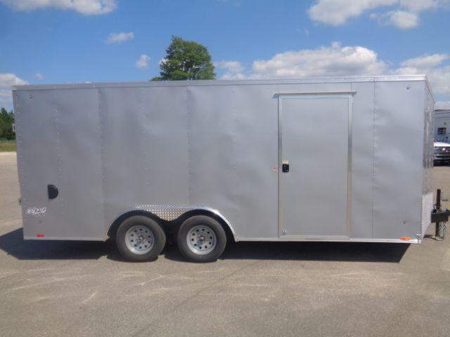 2019 Pace American 8.5x18 V-NOSE/RAMP DOOR/SIDE DOOR Enclosed Cargo Trailer