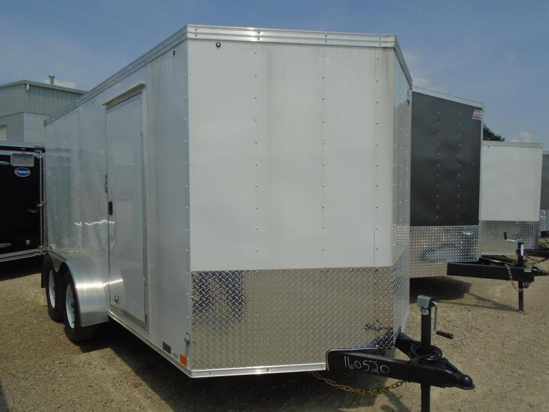 2018 United Trailers XLV-714TA35-8.5-S V-Nose/Ramp Door Enclosed Cargo Trailer