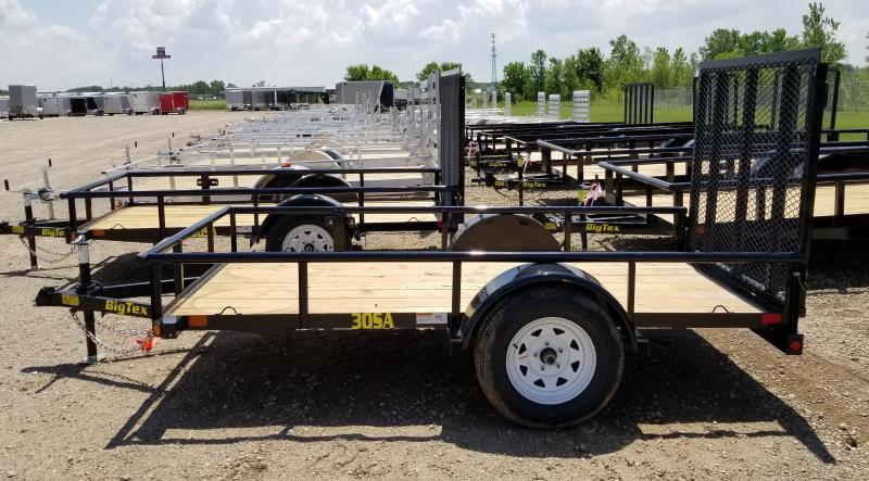 2018 Big Tex Trailers 30SA-10BK4RG 5X10 Ramp Gate* Utility Trailer
