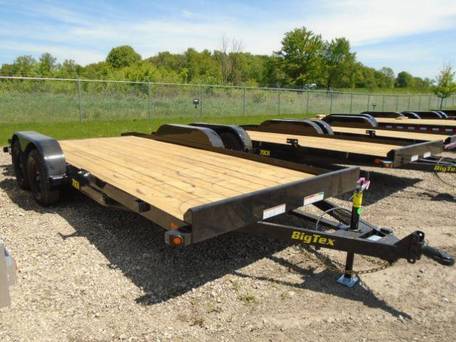 2019 Big Tex 18ft 7K Car Hauler Wood Deck  in Evansville, WI