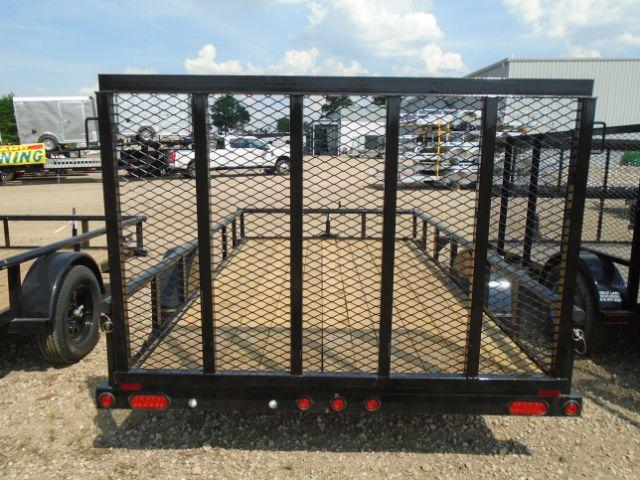 2018 Big Tex Trailers 35SA-12BK4RG 6.5X12 RAMP GATE Utility Trailer