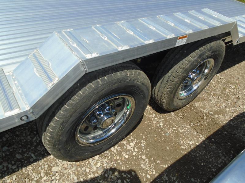 2018 American Hauler Industries 8.5x20 Flat Deck Aluminum Wheel Over Trailer